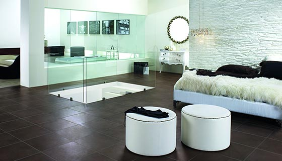 moderne fliesen im wohnbereich bei k ln fliesen. Black Bedroom Furniture Sets. Home Design Ideas